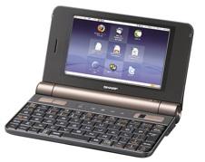 シャープ モバイルインターネットNetWalkerネットウォーカー「OpenOffice.org」搭載ブラック系 PC-Z1-B